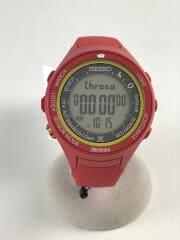 プロスペック ハイジ/ソーラー腕時計/デジタル/ラバー/GRY/RED/s811-00a0/中古