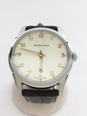 クォーツ腕時計/アナログ/レザー/BRW/H385111/ジャズマスター/