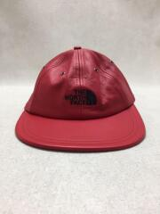 18AW/Leather 6-Panel Cap/キャップ/NN41804I/FREE/羊革/RED