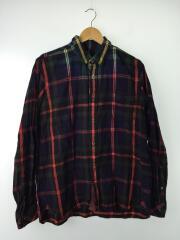 7分袖シャツ/3/コットン/17AW 後染めネルシャツ/17-01411M