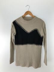 セーター(厚手)/FREE/アクリル/GRY/01920151061/X STITCH BUSTIER KNIT