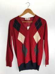 セーター(薄手)/S/ウール/RED