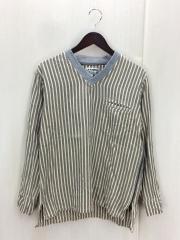 長袖Tシャツ/1/コットン/IVO/ストライプ