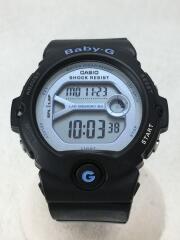 腕時計/デジタル/ラバー/BLU/BLK