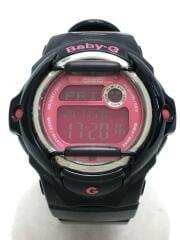 腕時計/デジタル/PNK/BLK
