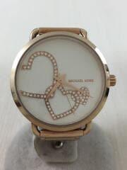 クォーツ腕時計/アナログ/ステンレス/WHT//  PORTIA ポーシャ   MK-3825