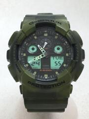 クォーツ腕時計/デジタル/ラバー/GRN/GRN