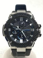 ソーラー腕時計・G-SHOCK/アナログ/ラバー/BLK/BLK/Bluetooth G-STEEL  GST-B100XA-1AJF