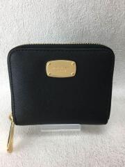 2つ折り財布/PVC/BLK/無地/レディース