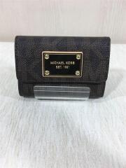 2つ折り財布/PVC/BRW/総柄/ユニセックス