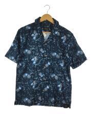 CARIBBEAN JOE/アロハシャツ/L/コットン/NVY/総柄/aloha/海/SSシャツ