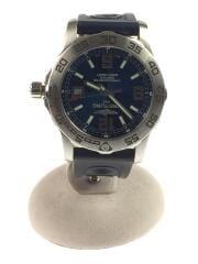 クォーツ腕時計/アナログ/ラバー/NVY/chronometre/certifle/ロゴ/箱有