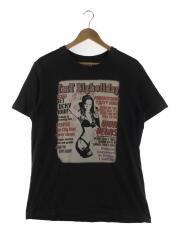 Tシャツ/XL/コットン/ブラック/黒/フェードブラック/スパンコール/セクシーガール