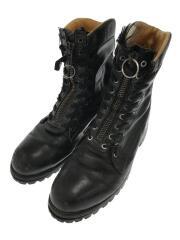 ブーツ/ブラック/黒/レザー/アメリカンメイド/9ホール/ビブラムソール/ロングブーツ