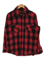 長袖シャツ/M/ウール/red/赤/レッド/チェック/ウールシャツ/RN42000