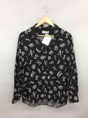 シャツ/44/レーヨン/ブラック/総柄/17ss/old english shirt