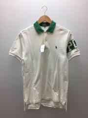 ポロシャツ/--/コットン/ホワイト/緑タグ/90s