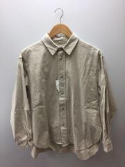 リネン混ロングシャツ/M/リネン/ベージュ/B-2465