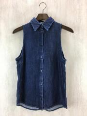 ノースリーブシャツ/36/デニム/IDG