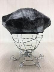 ベレー帽/--/ポリエステル/GRY/チェック/MADE IN ITALY