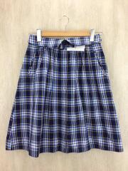 スカート/36/コットン/BLU/チェック
