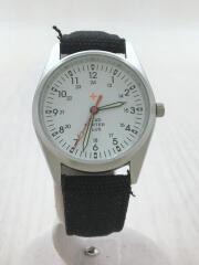 HEAD PORTER PLUS/腕時計/アナログ/WHT/BLK