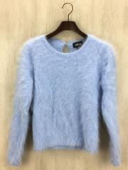 セーター(薄手)/FREE/アンゴラ/BLU