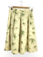 スカート/38/ポリエステル/YLW/花柄/フラワーグログランスカート