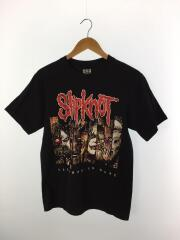 SLIPKNOTT/バンドTシャツ/バンTee/M/コットン/BLK/無地