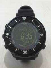 クォーツ腕時計/Prospex Fieldmaster UR EX/箱付デジタル/ラバー/BLK/BLK
