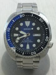 自動巻腕時計/箱付/アナログ/ステンレス/BLU/SLV/4R36-04Y0