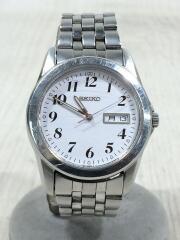 クォーツ腕時計/アナログ/ステンレス/WHT/SLV/7N43-0AM0