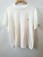 19SS/FREAKS STORE/ロゴ刺繍/クルーネック/TEE/Tシャツ/L/コットン/WHT