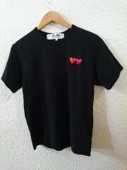 19SS/DOUBLU HEART/ダブルハート/ワッペン/ロゴ/クルーネック/Tシャツ/S/コットン/BLK