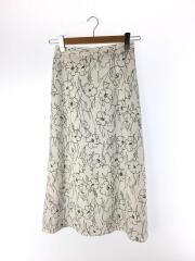 19SS/センガFlowerスカート/フラワー/ロングスカート/FREE/ポリエステル/WHT/花柄
