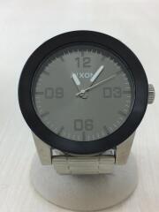 THE CORPORAL SS/A346 1762-00/マットブラック/クォーツ腕時計/アナログ/ステンレス