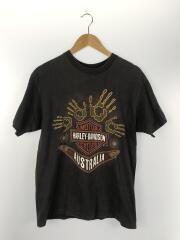 90s~/Tシャツ/S/コットン/BLK