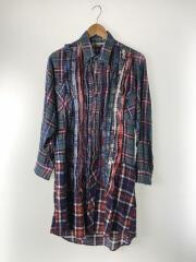 リメイクフランネルロングシャツ/XS/コットン/マルチカラー/チェック