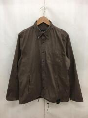19AW/SYNTHETIC SUEDE CODE B.D SHIRT/長袖シャツ/L/スウェード/BRW