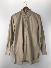 ボタンダウンビッグシャツフィンシャトルウェザー/長袖シャツ/36/ブラウン/ストライプ