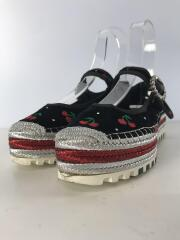 Suzi Cherry Mary Jane Espadrilles/サンダル/37.5/BLK/ベロア