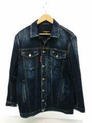 18SS/BE COOL BE NICE Stretch Denim Jacket/Gジャン/XXS/コットン/IDG/デニムジャケット