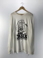 STRANGE TRIP/JANIS TEE/長袖Tシャツ/XL/コットン/WHT/プリント