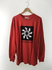 Arrows Oversize L/S Shirt/長袖Tシャツ/M/コットン/RED
