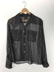 20SS/オープンカラーシャツ/S/ポリエステル