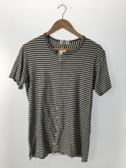 Tシャツ/3/コットン/WHT/ボーダー