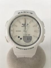 BABY-G/クォーツ腕時計/デジタル/ラバー/WHT/WHT