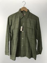 60s~/オープンカラーシャツ/15/コットン/GRN/チェック