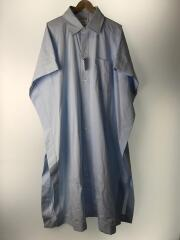 20SS/Square Buttoned Long Shirt/半袖シャツ/M/コットン/BLU