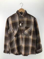 ネルシャツ/70s/M/コットン/BRW/チェック